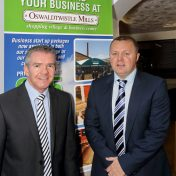 From L to R Paul Spencer, director at Haworths Chartered Accountants and Boyd Hargreaves, managing director at Oswaldtwistle Mills