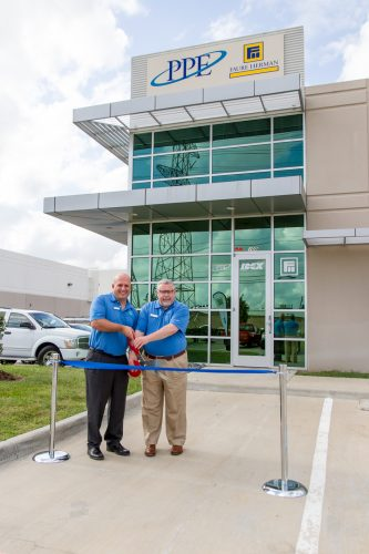 Brett Finley, vice president of Fluid & Metering Technologies and PPE's managing director Paul Gillyon