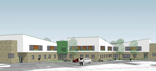 Sketch of the new Clitheroe Health Centre