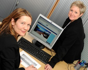 mr prJanine Wilson, left, and Debbie Pettitt with the new Marsden Rawsthorn mr pr Wealth Management website
