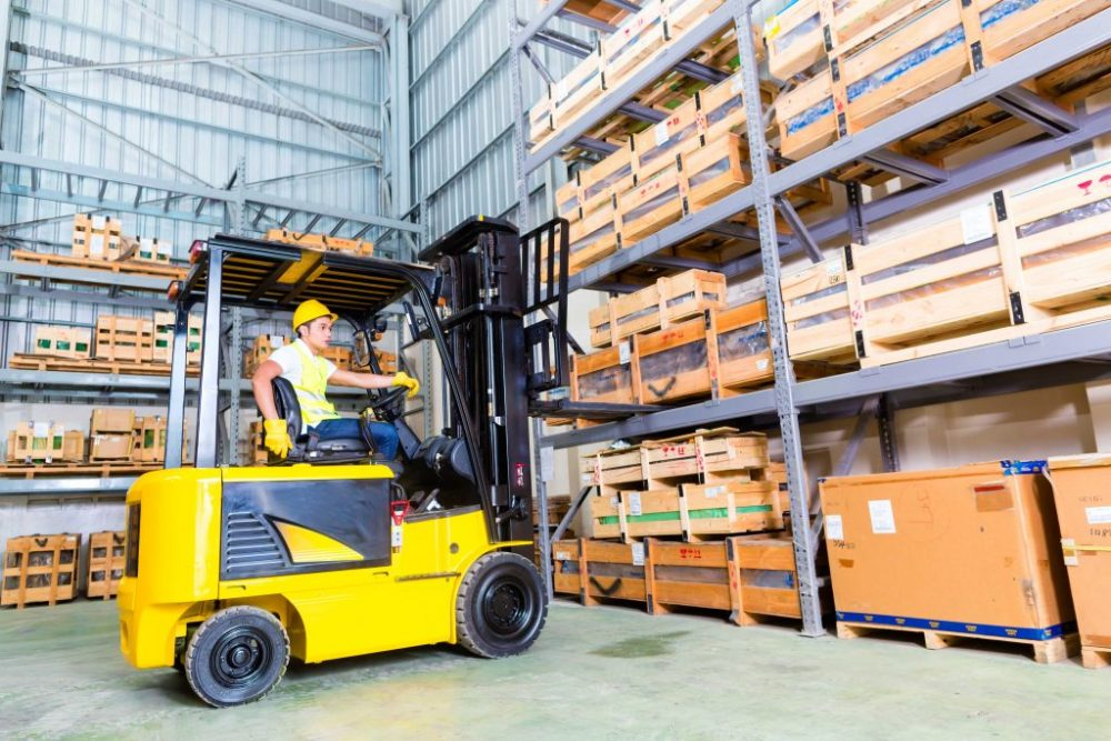 Specialist training fork lift truck